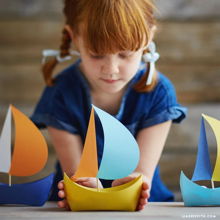 Diy Paper Boat Kids Craft Pinterest Themed Parties Boating
