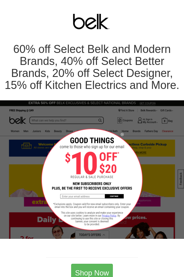 Best deals and coupons for Belk in 2020 Belk, Coupons