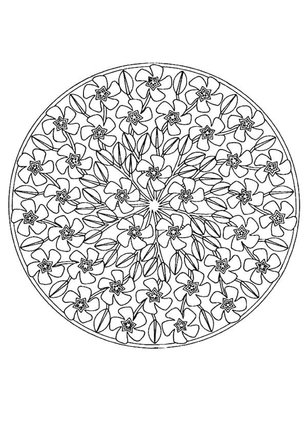 Цветы по кругу   Раскраски мандала, Раскраски, Книжка ...