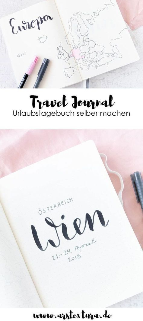Du liebst dein Bullet Journal? Dann ist ein Travel Journal alias Reisetagebuch genau das Richtige für dich. Schau dir schnell an, wie du es gestalten kannst. #bujo #bulletjournal #tagebuch