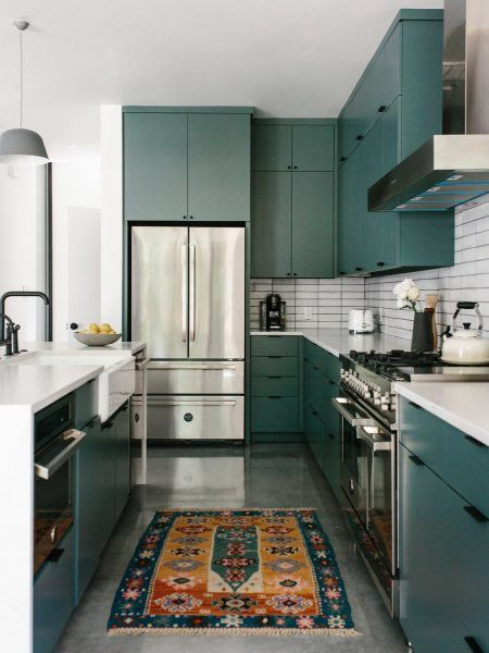 Design trends colorful cabinetry and tile fireclay also kitchen for your perfect home this winter interior rh pinterest