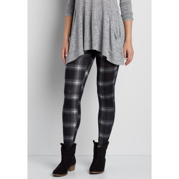 maurices Knit Legging In Plaid, Women's, ($20) ❤ liked on Polyvore featuring pants, leggings, plaid trousers, legging pants, tartan trousers, tartan plaid pants and tartan plaid leggings