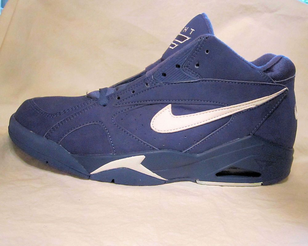 Men s Nike Shoes Air Bound Flight 1992 Dark Royal Blue NIB Size 10 1 2  Vintage 018943231