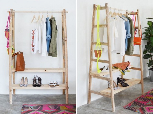 Creative Ways To Upcycle Ladders Architecture Interiors - Creative clothes racks