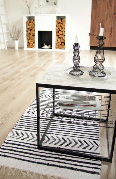 DIY Teppich in schwarz weiß á la house doctor;) House doctor