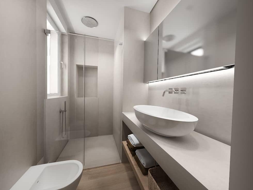 Bagno Stile Minimalista : Bagno in stile di interior design bagno bagno padronale e