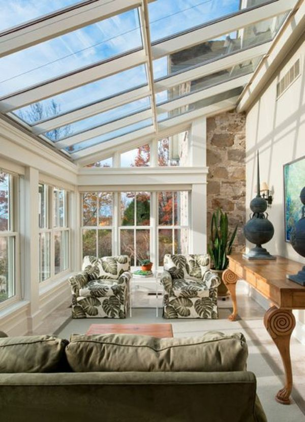 wintergarten einrichten terrassengestaltung bilder. Black Bedroom Furniture Sets. Home Design Ideas