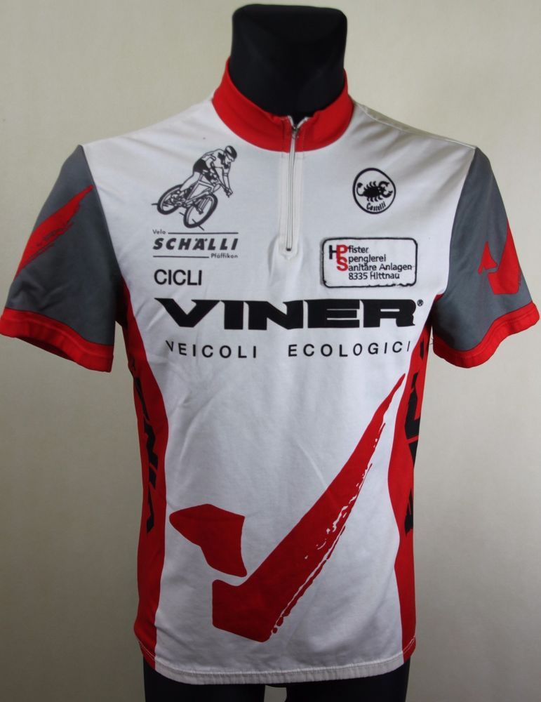 Men s Vintage Castelli Viner Short Sleeve Cycling Jersey sz L Large   Castelli 41db15761