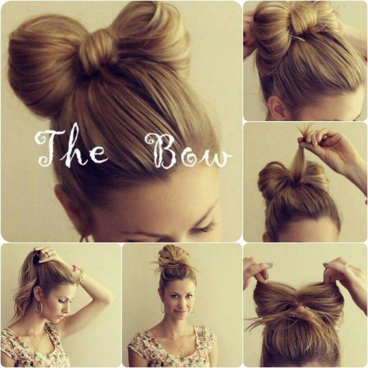 Pin By Anna Gryb On Hair Style Hair Bow Bun Bow Hairstyle Wacky Hair