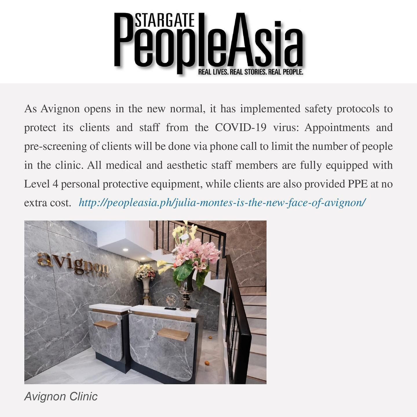 People Asia Features Avignon Clinic In 2020 Real People Avignon Clinic