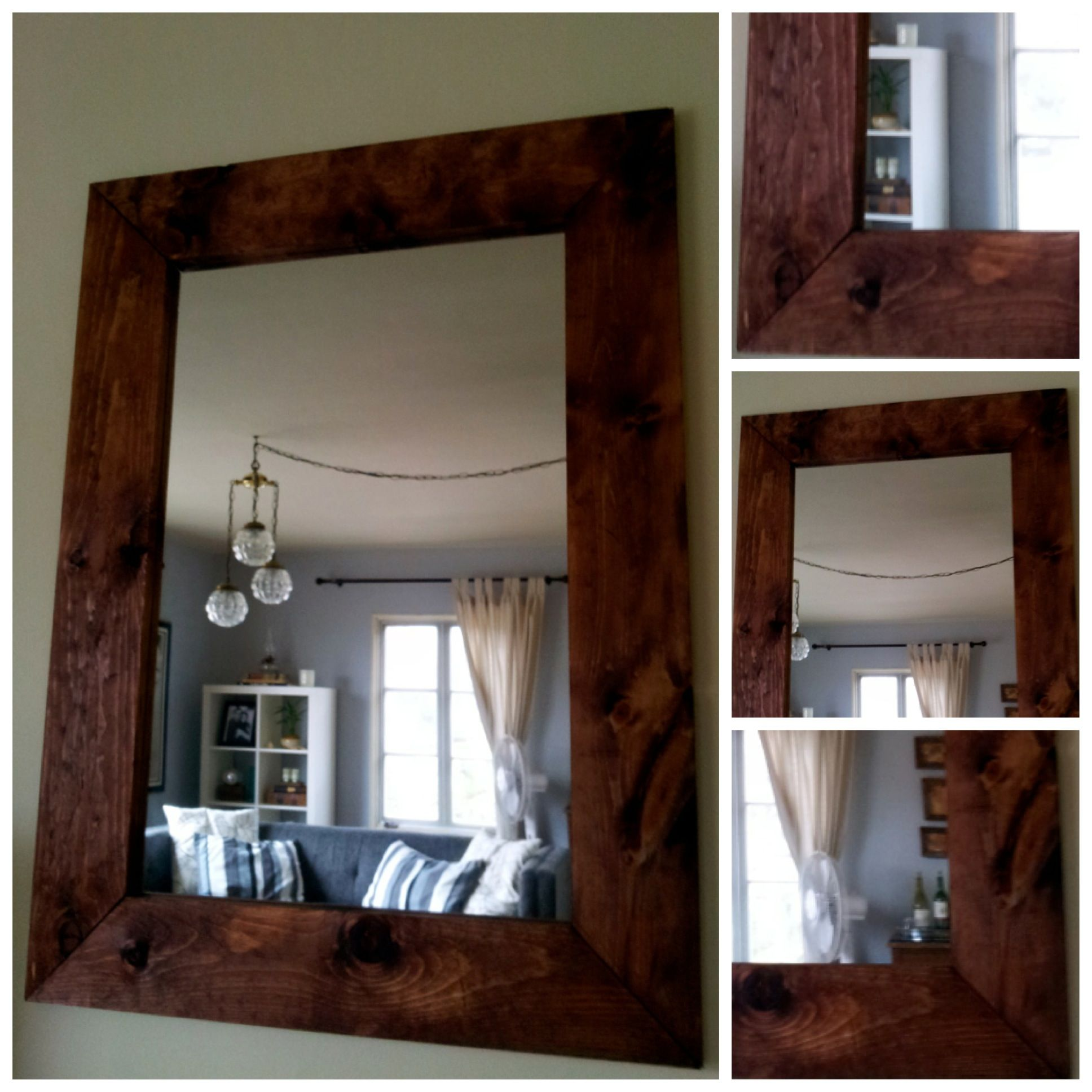 Reclaimed wood mirror from www.MontaneDesigns.com