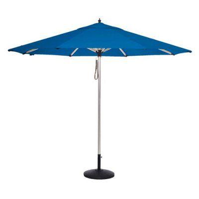 Amauri Coronado Sands 9 ft. Round Sunbrella Patio Umbrella Pacific Blue - 67218-103-CS21801