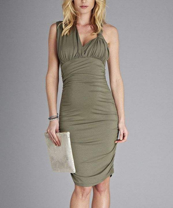 Take a look at this Khaki Loretta Maternity Dress on zulily today!