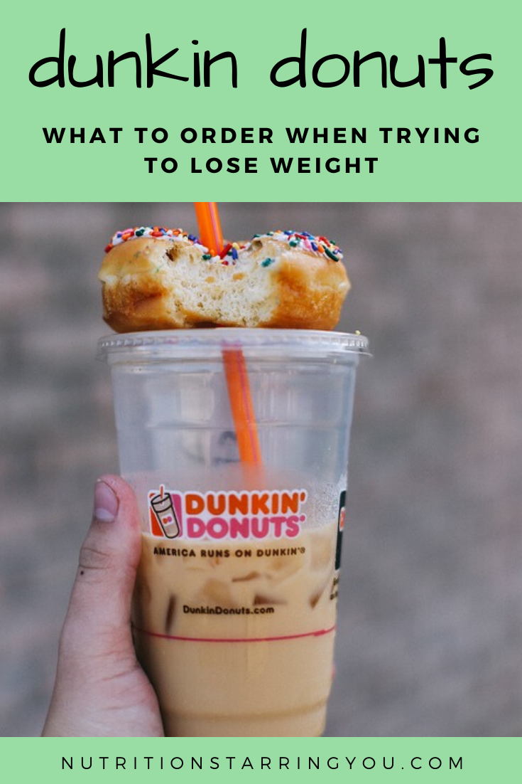 Dunkin Donuts Diet Options Donut calories, Dunkin donuts