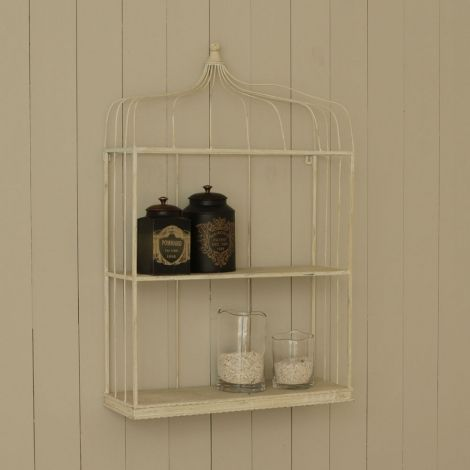 An iron shelf in a cream finish #Contemporary #love #elegant #luxury #beautiful #sale #furniture #antique #home #house #decor #homeware #creative