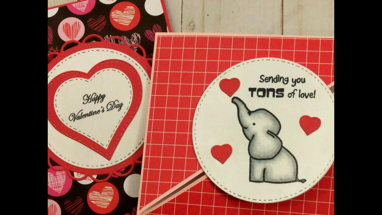 2 ~ DOUBLE TRIANGLE FOLD VALENTINE CARDS - YouTube in 2020 ...