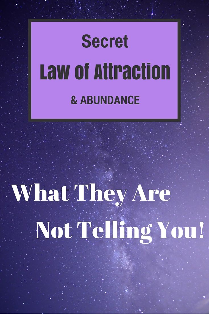 Article on how to use the law of attraction and what the