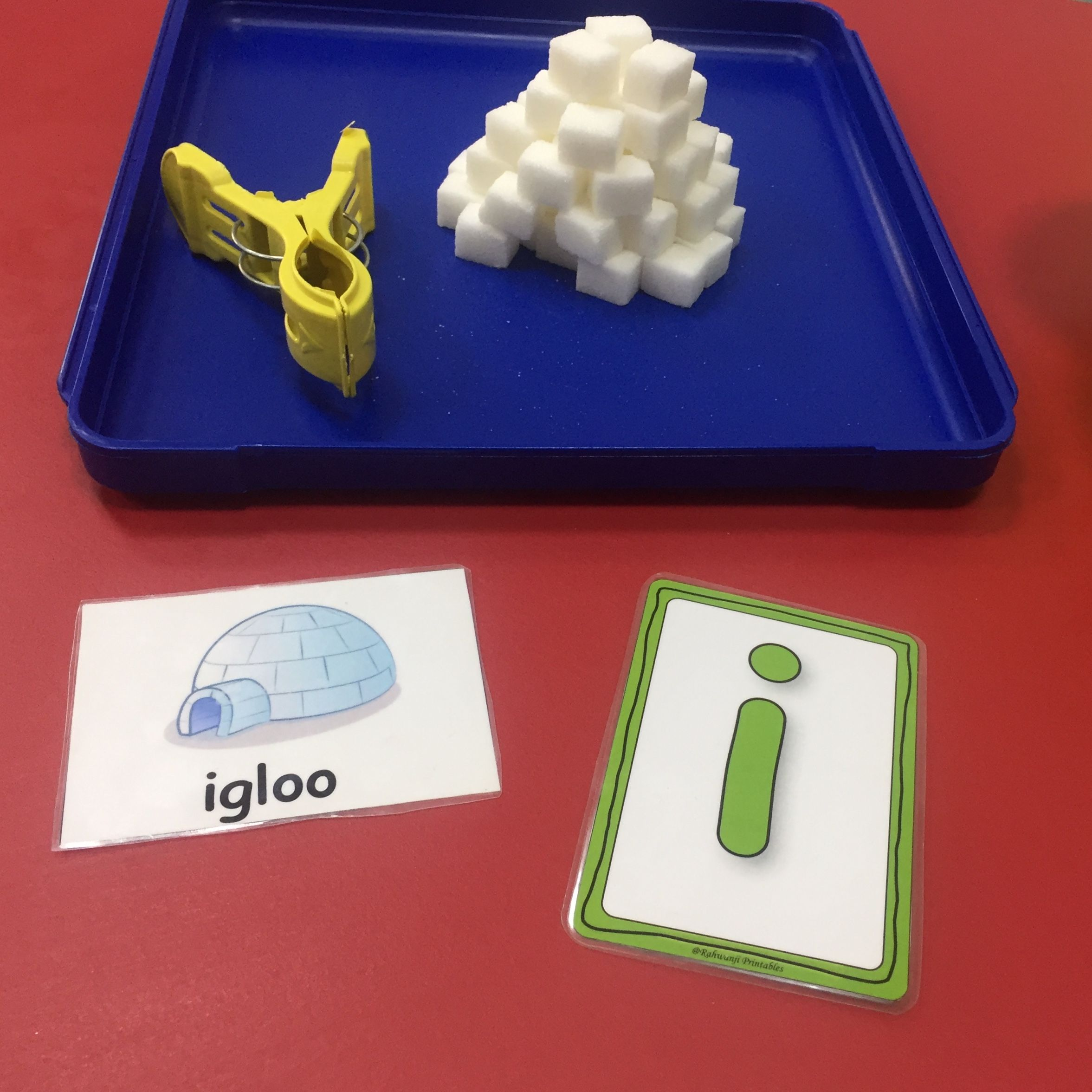 Letter I Activities Building Igloos Using Sugar Cubes