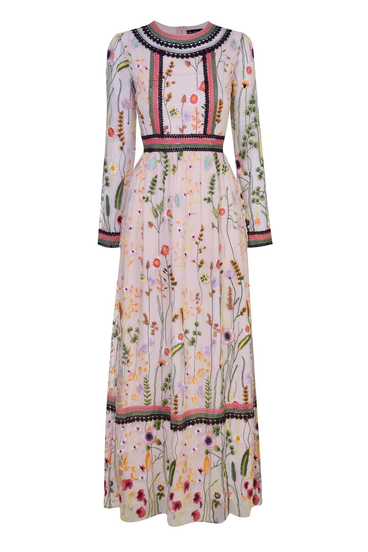 2cc673ec3c47 Georgette Ruffle Maxi Dress by Borgo de Nor Resort 2019 | Vacation Wardrobe  in 2019 | Dresses, Dress outfits, Fashion
