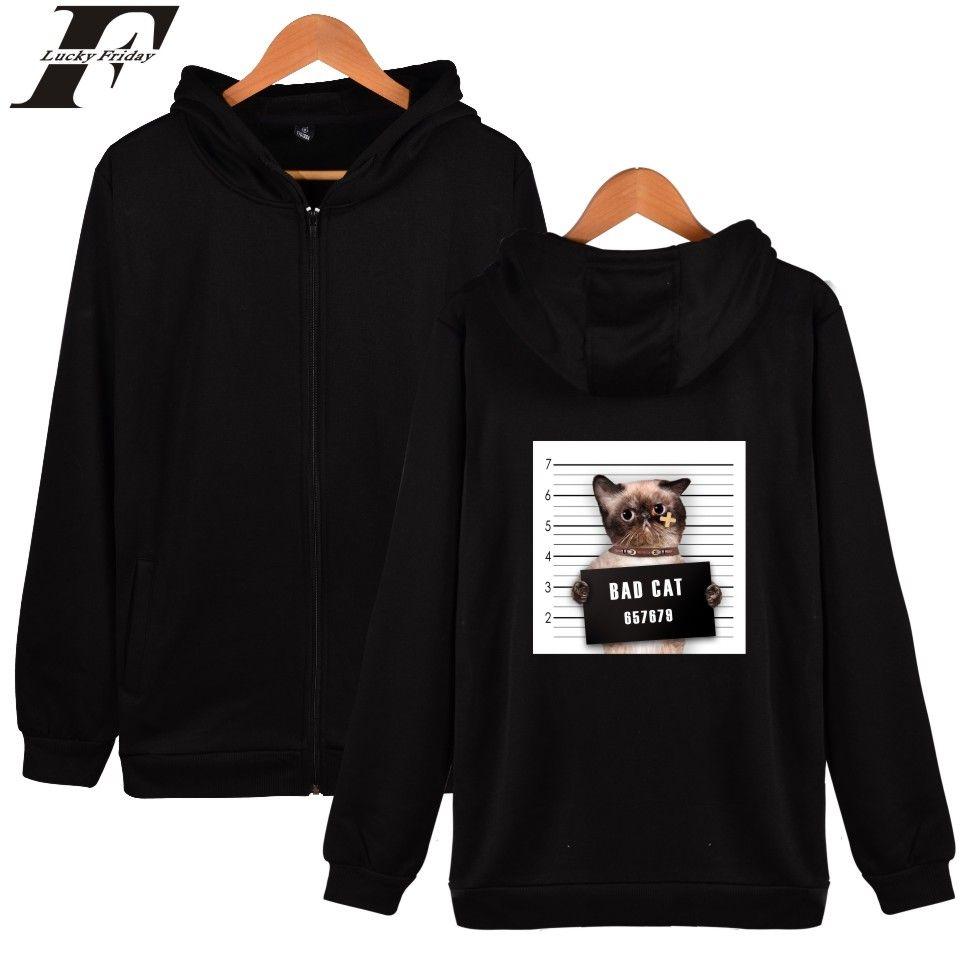 Click To Buy Luckyfridayf Bad Cat Sweatshirt Men Hoodie Funny Crime Cat Photos Hooded Coat Winter Kawaii Cat Mens Sweatshirts Hoodie Sweatshirts Hoodies [ 960 x 960 Pixel ]