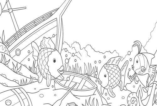 Dibujos para colorear el pez arcoiris - Imagui | amigo | Pinterest ...
