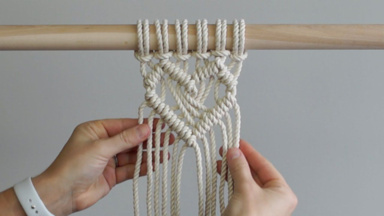 DIY Macrame Tutorial: Heart Pattern Using Double Half Hitch Knots!