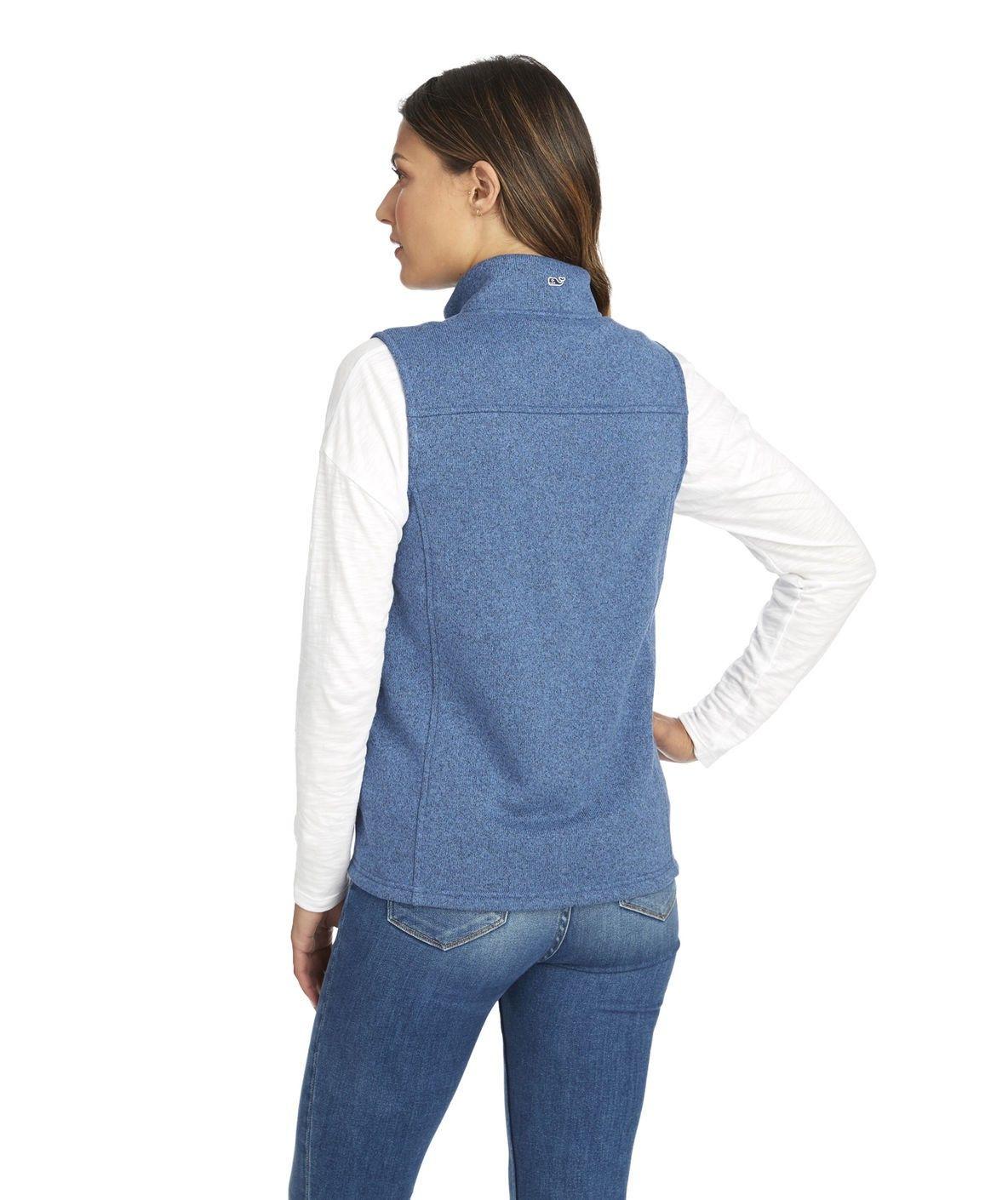 Vineyard vines sweater fleece vest moonshine xxs navy products