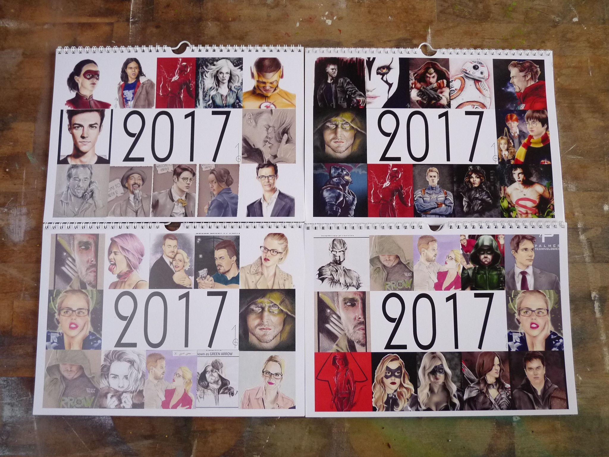 Calendrier Gotham.2017 Calendrier Calendar Best Of Artworks Arrow Green