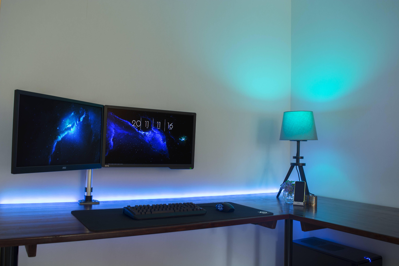 Custom Built Desk Station Feat Philips Hue Hue Philips
