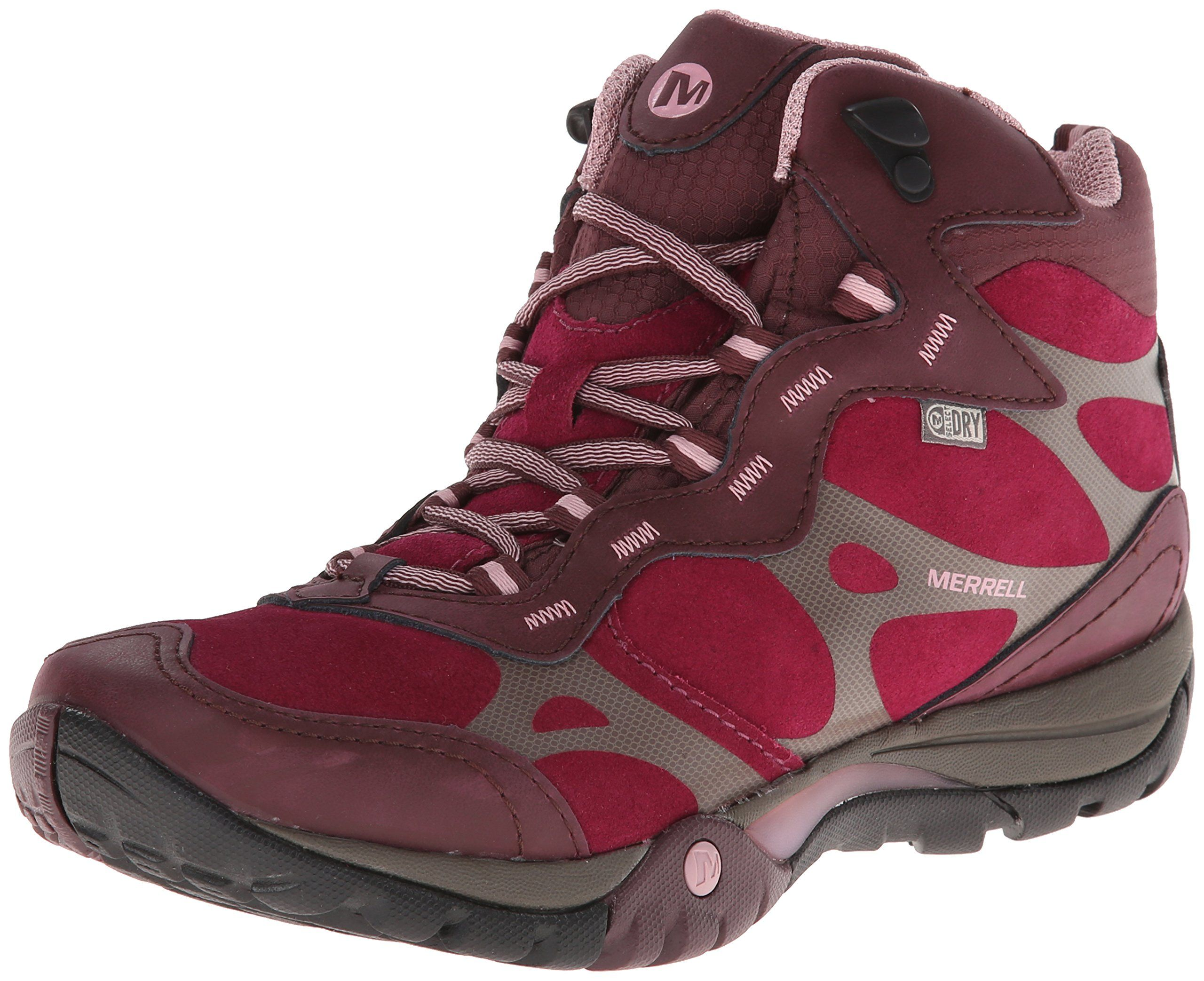 Merrell Women S Azura Carex Mid Waterproof Hiking Boot Wine 10 M Us Boots Waterproof Hiking Boots Hiking Boots