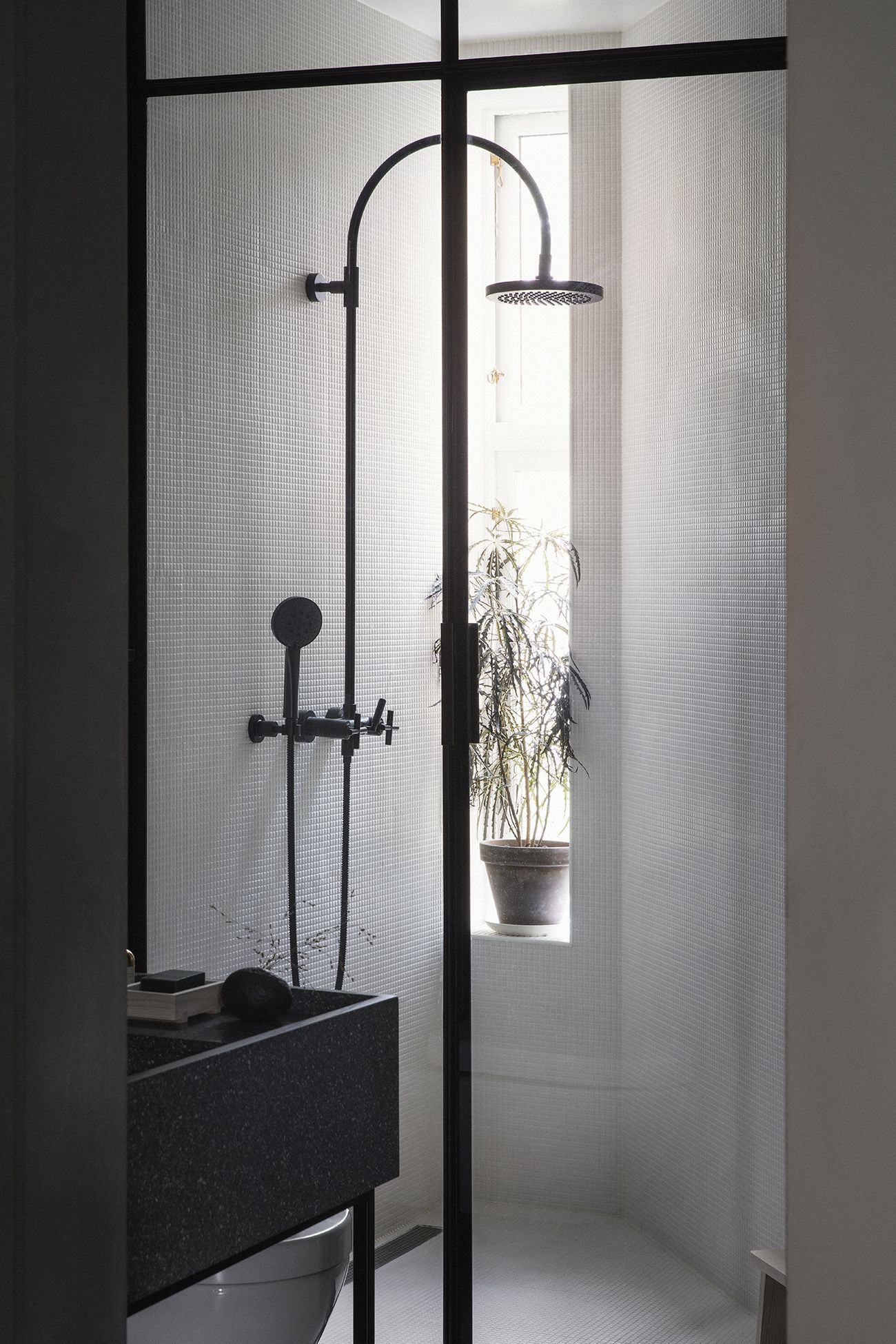 Small window ideas bathrooms  inside the smokily colored home of alessandro duorazio and jannicke