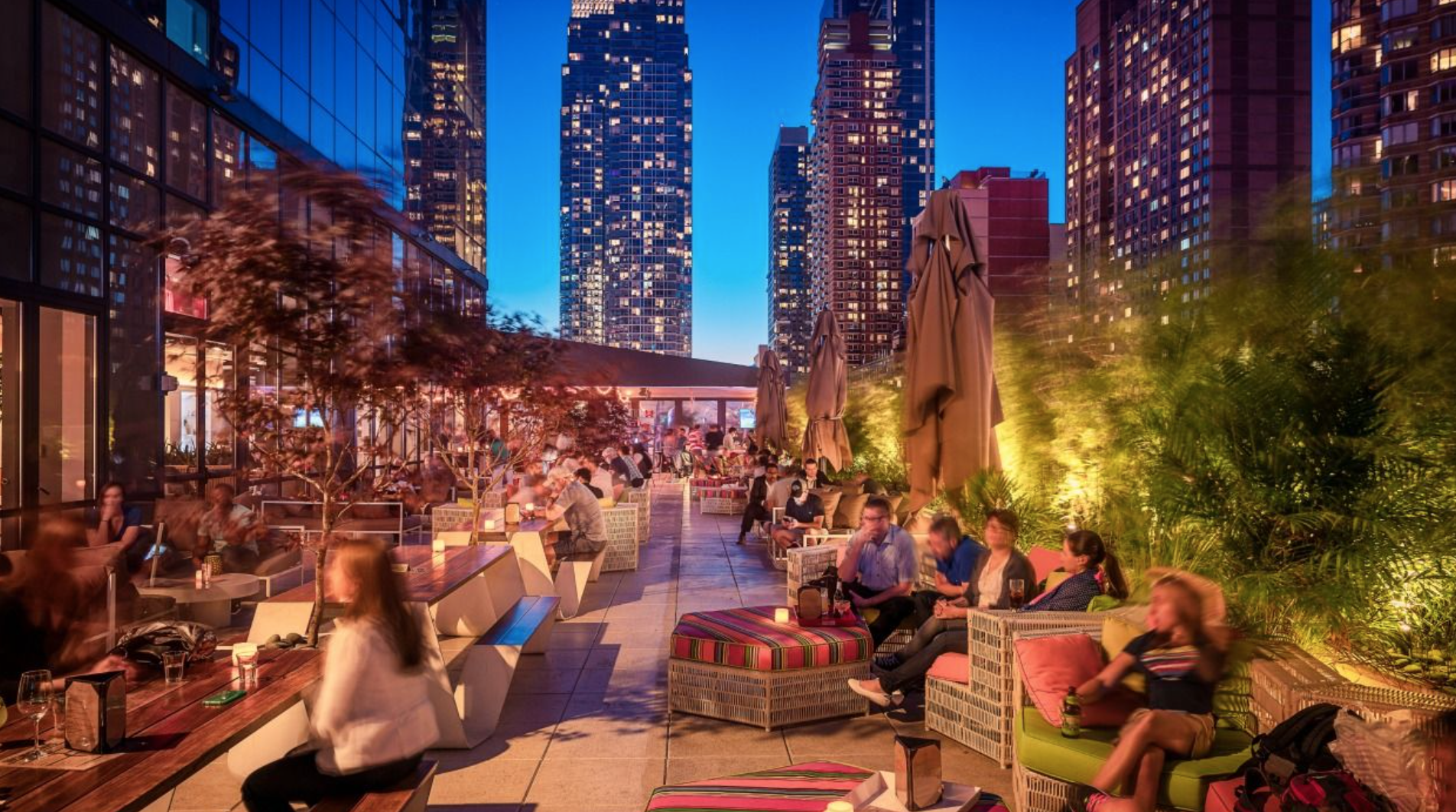 Times Square Yotel Roof Top | New york hotels, Rooftop ...