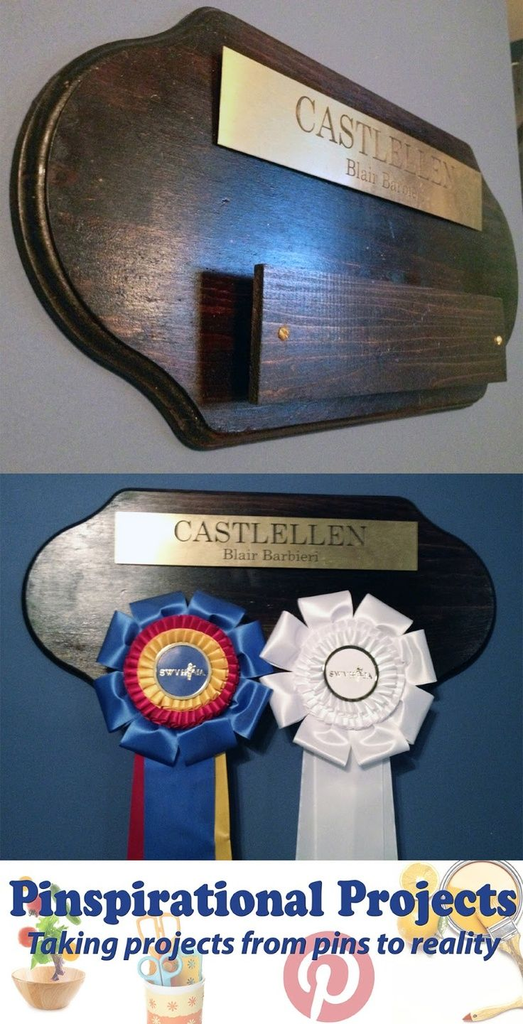 Pinspirational Projects Diy Horse Show Ribbon Rack Great Idea To Take Shows And Hang On The Stall Maybe For Next Year When Lily I Don T Fail At