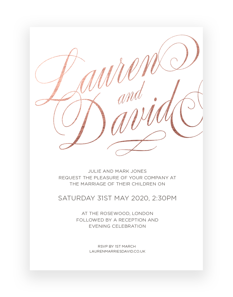 Luxury Wedding Invitations Uk The Foil Invite Company Wedding