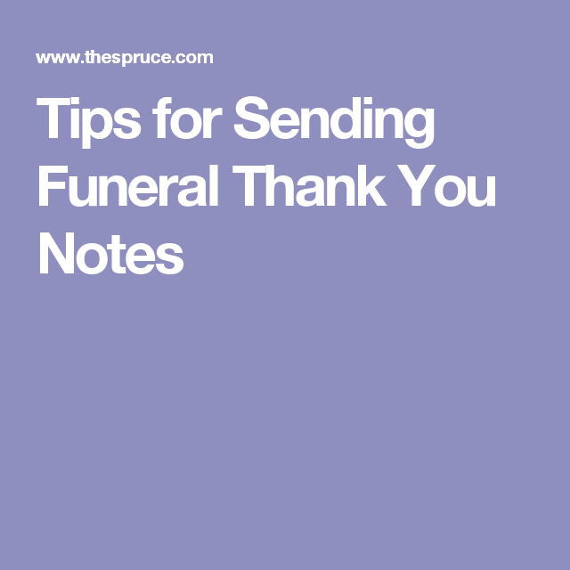 How To Thank People After A Funeral