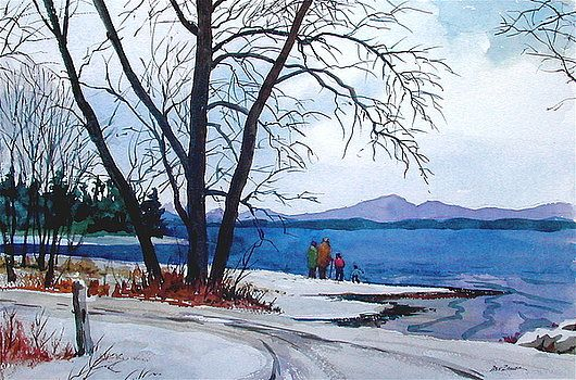 Winter at the Lake by Dale Ziegler