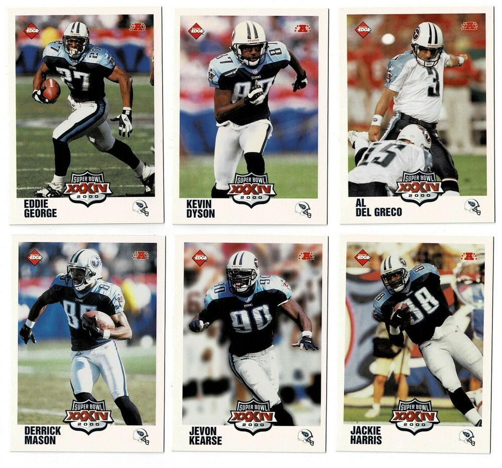 2000 Collector S Edge Super Bowl Xxxiv Rams Titans Set Of 25 Cards Nmnt Mint In 2020 Super Bowl Xxxiv Super Bowl Sports Cards