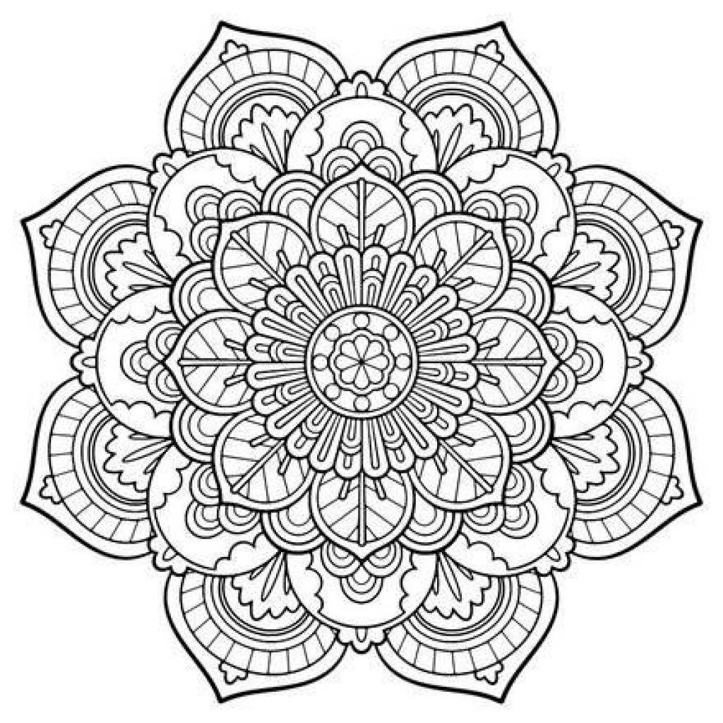25 Inspiration Photo Of Coloring Pages Mandala Detailed