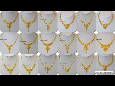 Designer Gold Necklaces Youtube Gold Necklace Designs Gold Necklace Necklace Designs