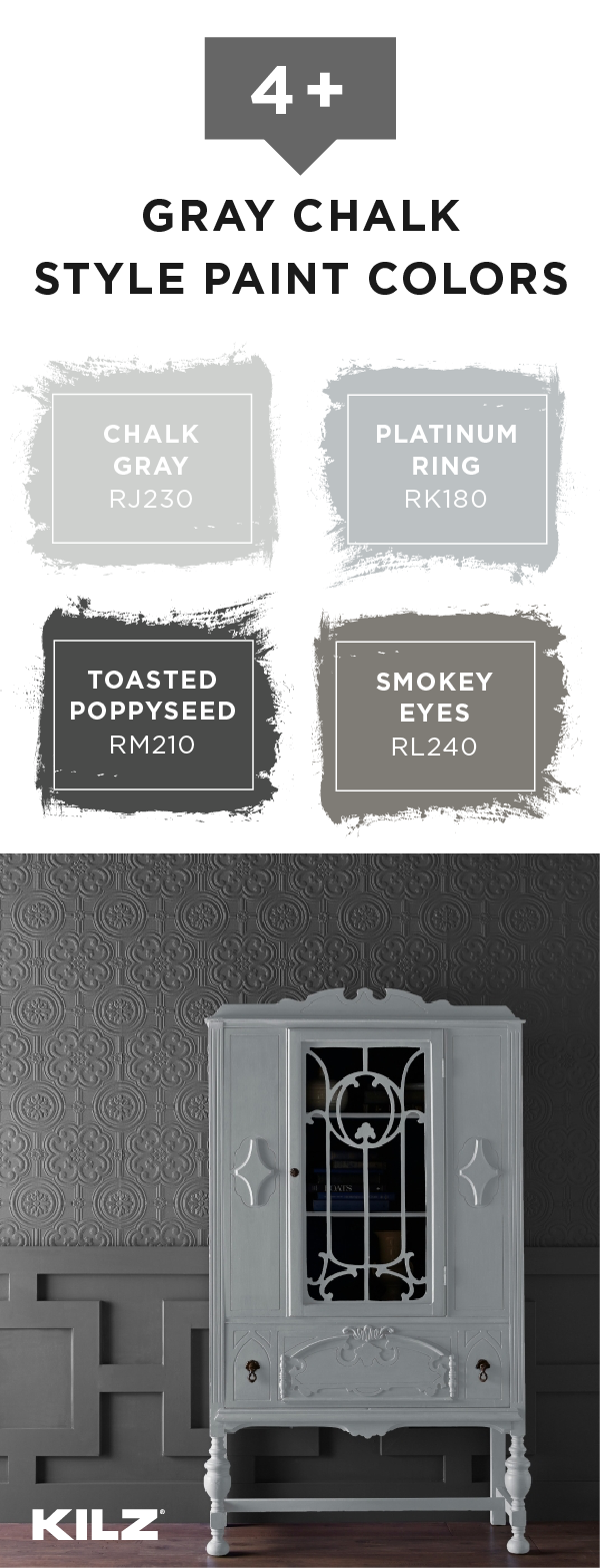 Neutral Color Palette To Give Your Home A Timeless Interior Design Style Luckily We Ve Got You Covered With These Gray Kilz Chalk Paint Colors