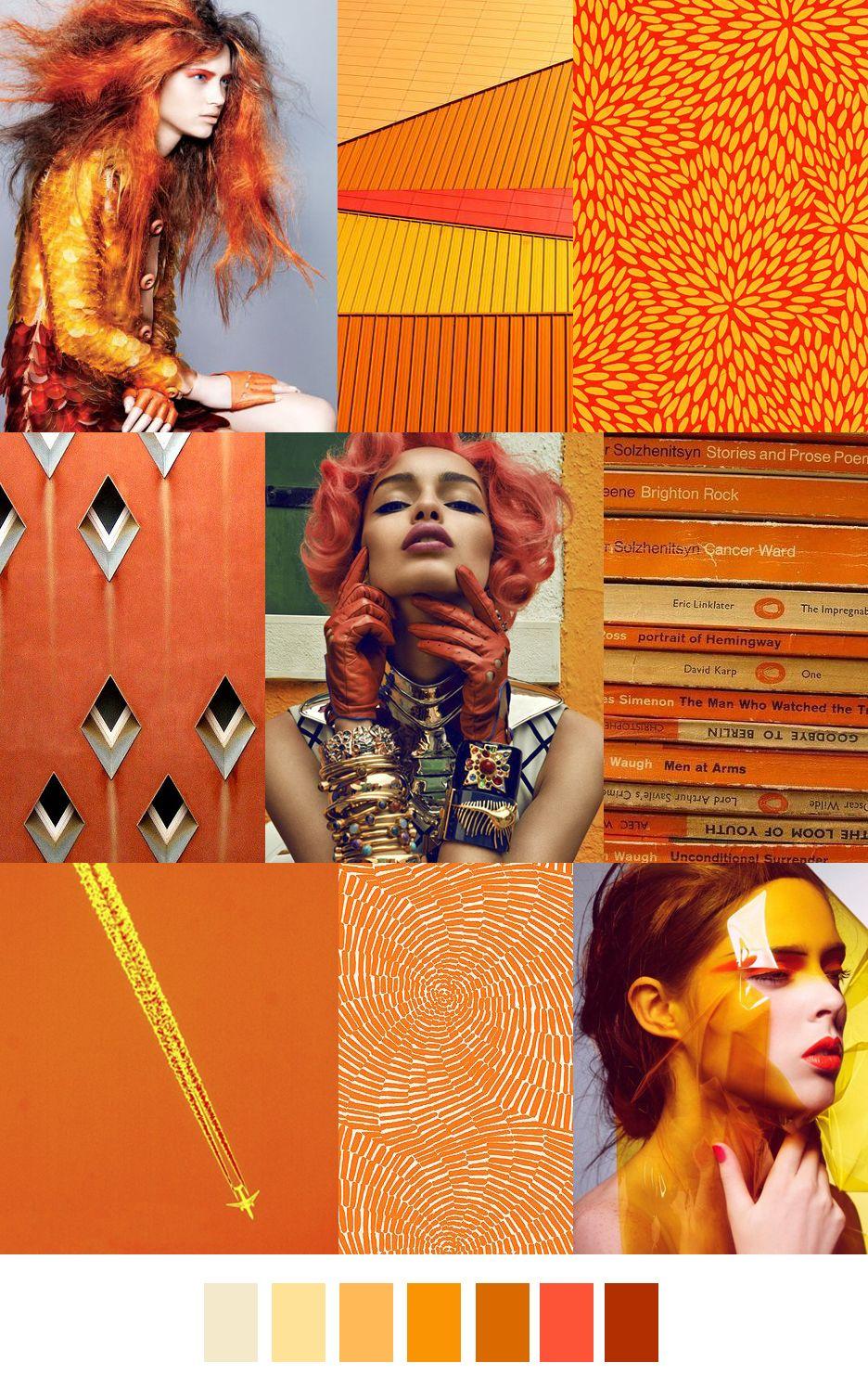 sape orange shweshwe moodboard - 736×1165