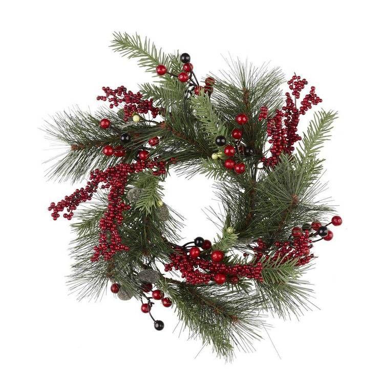 Jolly Joy Berry Wreath Green Red Christmas Wreaths Garlands Christmas Wreaths Wreaths Garlands