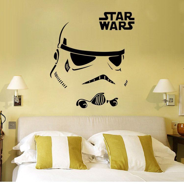 W-12 STAR WARS WALL ART STICKER Stormtrooper Darth Vader Vinyl Mural ...