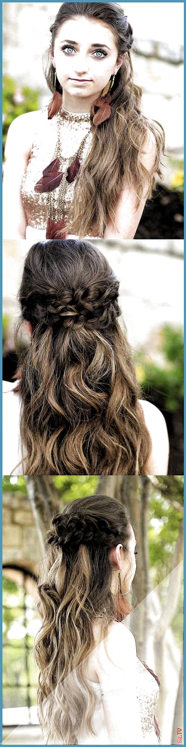 25 Tutoriales fáciles de medio peinado y medio peinado para el baile de graduac…