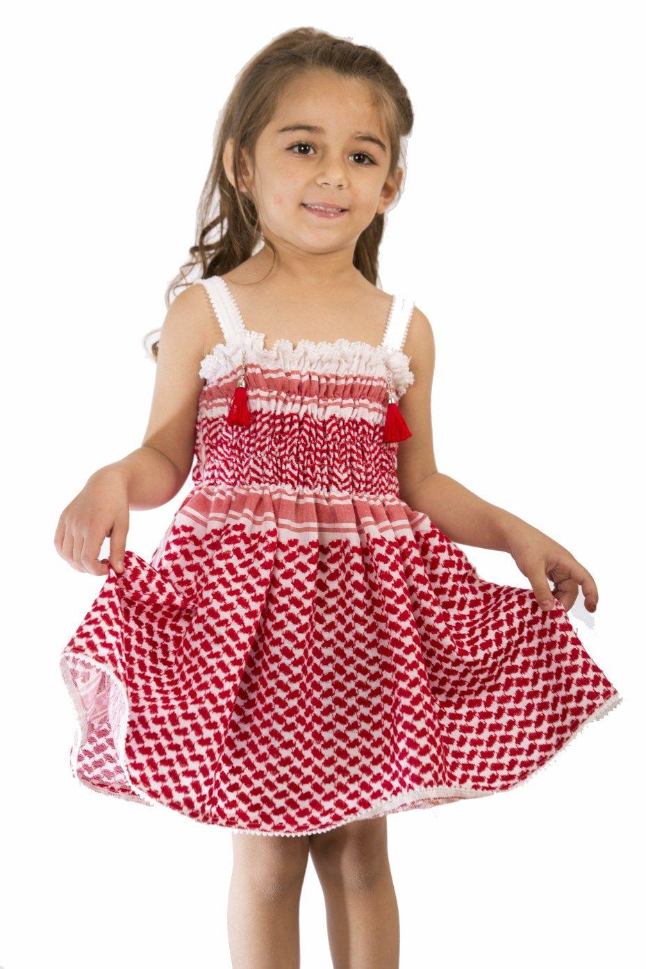 فستان أطفال الشماغ الأردني متجر السندس Fashion Apron