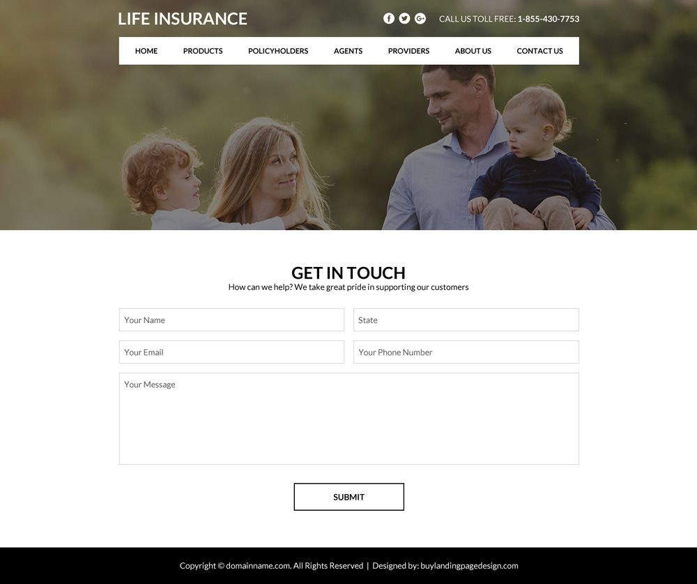 Best Life Insurance Policy Selling Website Design Responsive