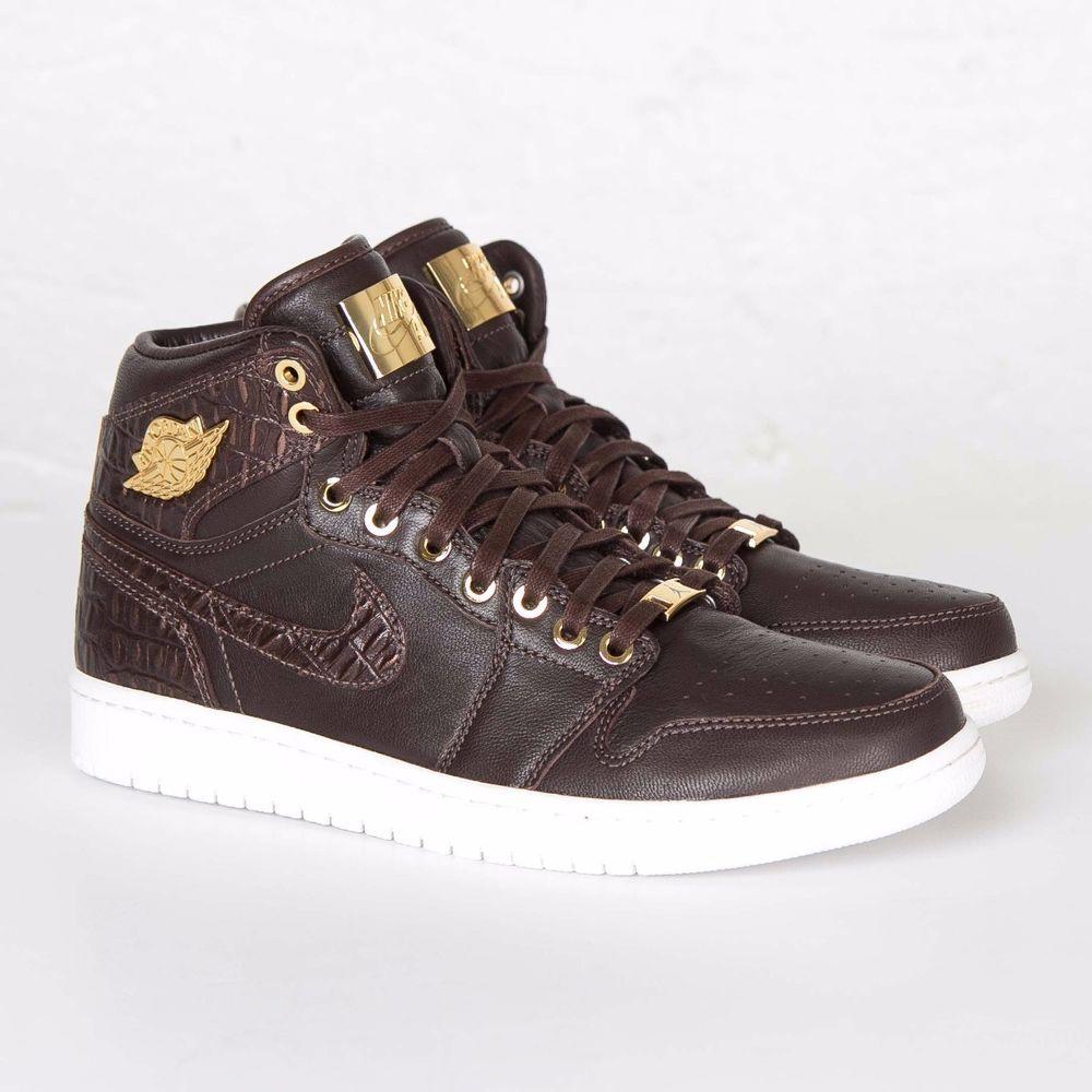 buy online 05b77 66731 Nike Air Jordan 1 Pinnacle Baroque Brown Croc Metallic Gold 705075-205 size  12