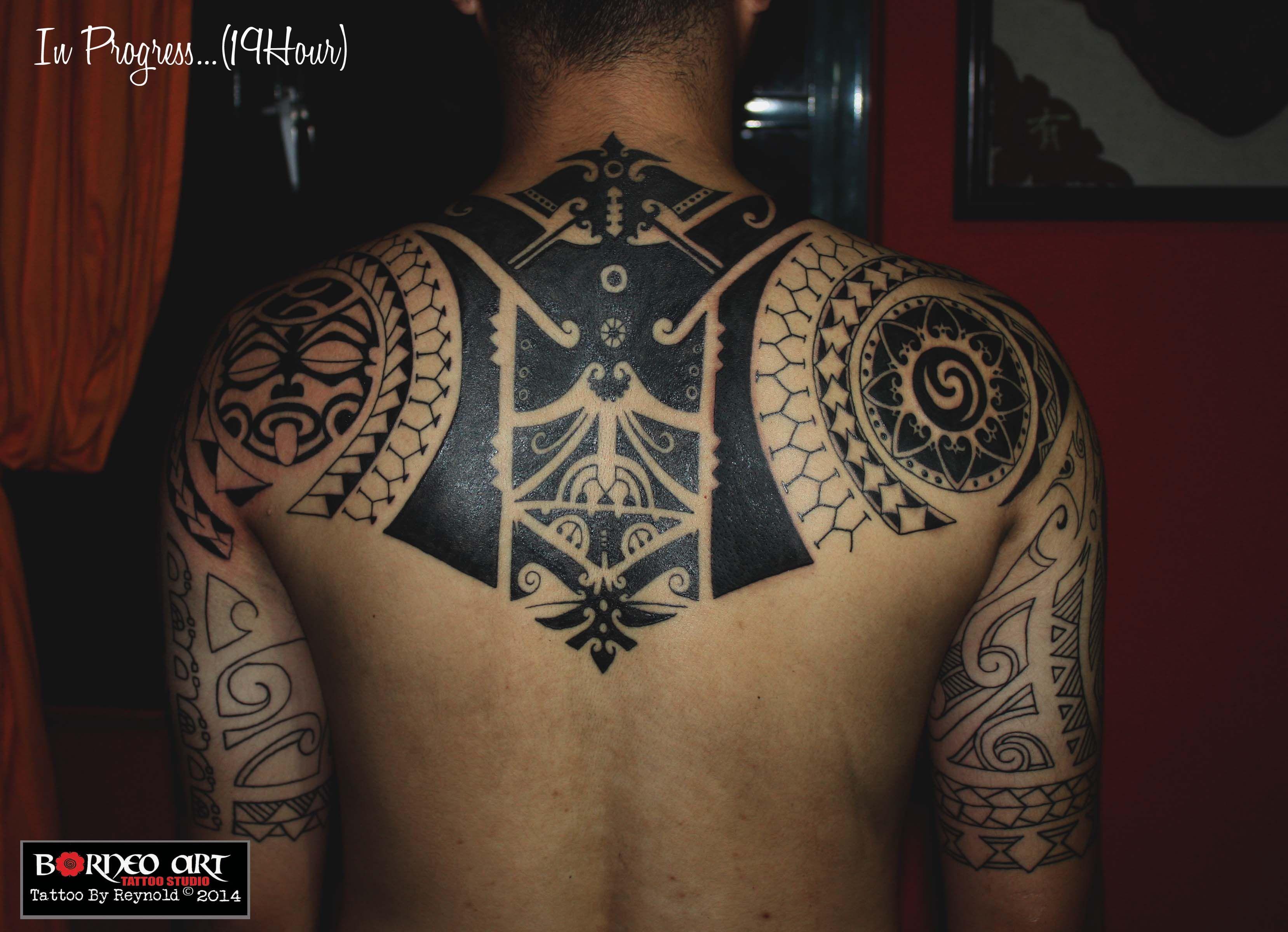 Marquesan Tattoo: Design Inspired By Borneo,maori,polynesian And Marquesan