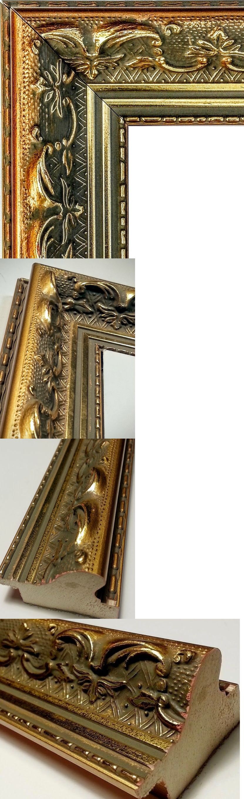 Frames And Supplies 37575 20 Feet Wide Ornate Gold Picture Frame Moulding Baroque Antique Gold Woo Gold Picture Frames Picture Frame Molding Antique Gold