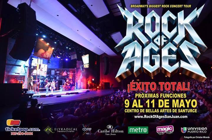 ► APROVECHA oferta de 50% DESCUENTO y ESCOGE TU ASIENTO en: ◄ http://www.ticketpop.com/es/events/detail/rock-of-ages  ¡¡¡SOLO ESTE FIN DE SEMANA!!!! Rock of Ages San Juan 9 al 11 de mayo - en el Centro de Bellas Artes de Santurce.   #rockofages #broadway #80srules #theeighties #ticketpop